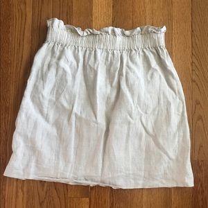 J Crew Linen Sidewalk Skirt